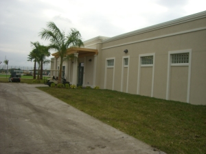 side of clubhouse