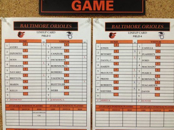 intrasquad lineups