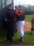 Meeting of the mind. Duquette and Buck discuss Yoon.