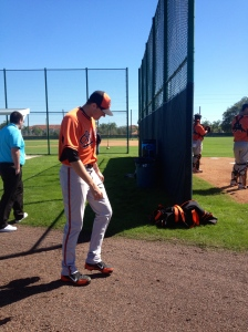 Headed to his bullpen session