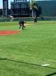 Machado fielding ground balls