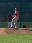 Tommy Hunter throwing a bullpen