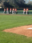 Group of pitchers waiting their turn.